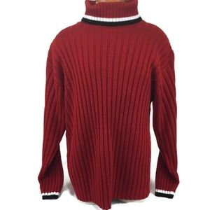 aa28855a48 Southpole Men s Turtleneck Sweater Size Large Red